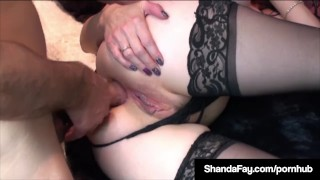 Pussy naughty housewife gets her ass cock a shanda fay in milf canadian