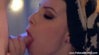 Blowjob erotic steamy bathroom handjob cock