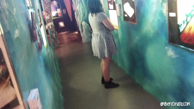Teen volunteers at small museums Creationism museum public blowjob