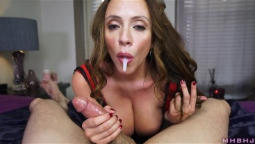 Horny MILF spoils stiff cock
