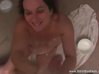 Sakura henti bbw makes a creamy hand job awesome bbwbadgirls bbw brunette point of v
