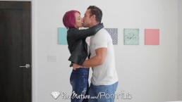 PureMature Juicy creamy creampie fuck with milf Anna Bell Peaks
