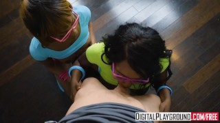 DigitalPlayground - Two hot ebony teens Share White Stepdad