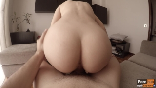 Morning creamy quickie to celebrate one million views ♡ (WITH CREAMPIE!) Big reverse
