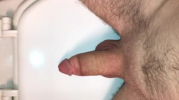 Young 21 Year Old Boy Mastrubates On Freinds Toilet. Cum Shot.
