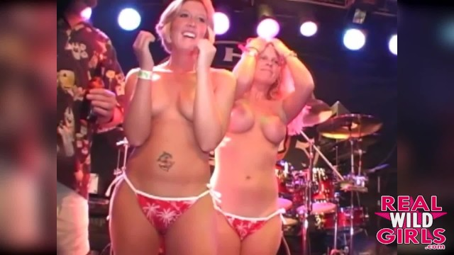 Hot girls bikini remove contest Hot blondes bikini contest out of control