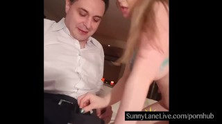 Foreigner lane off sucks lucky sunny cumshot natural