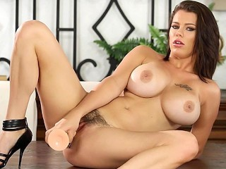 Slut Wife Blowjob Crushgirls - Peta Jensen Has Some Fun With Her Dildo, Big Tits