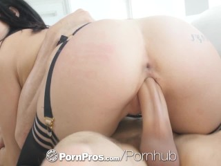 PornPros Big dick fuck and facial with soaking wet Rina Ellis