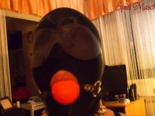 Ball Gag Cum On Face