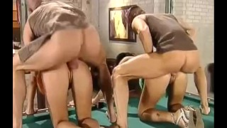 Foursome billiard bent facial