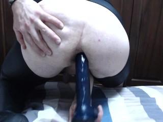 10' dildo up my tight sissy slut hole