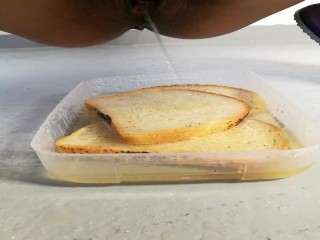 Piss bread for slave