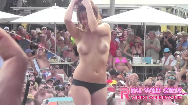Girl in bikini by a pool Wild nude slut contest key west pool party pt.2