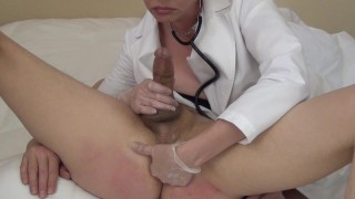 Let's Play Doctor (femdom)  strap on ass fuck fucking his ass pegging medical big cock femdom anal dildo femdom doctor cumshot prostate kink mrs mischief orgasm control ruined orgasm