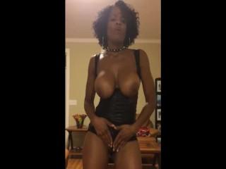 Raven Swallowz, Ebony Pornstar, Candid Personal Striptease and Blowjob