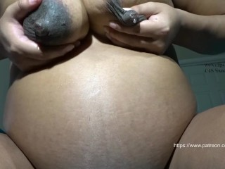 Pregnant Nipple licking/Sucking HD