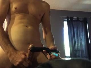 My wife's vibrator gave me a killer frenulum orgasm...