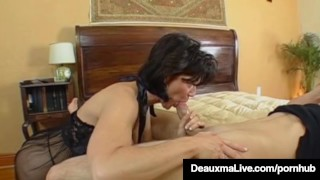 Texas Cougar Deauxma Gets Nice Hard Juicy Wet Ass Pounding! Double blowjob