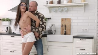 She Is Nerdy - Kerry Cherry - Nerdy girl in a mood for anal Hardcore lee