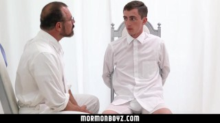 MormonBoyz Straight Boy Tricked Into Getting an Erection by Older Man