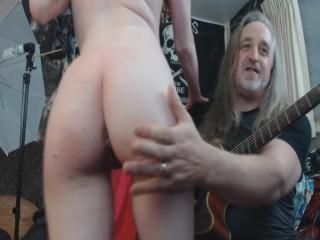 Roxy Using Glass Dildo Lush And Hitachi Cum Show