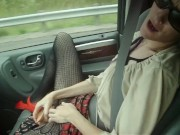 Naughty Wife Squirts In Car