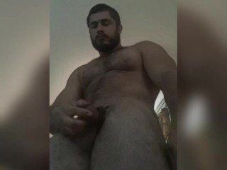 Muscle Stud Jerking Off and Cumming