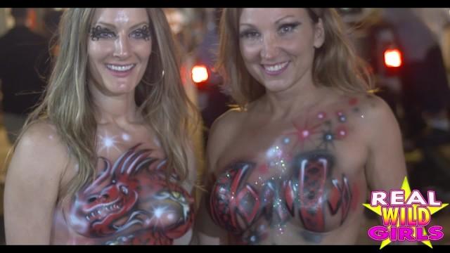 Lesbians slut fest Fantasy fest naked sluts key west street party1