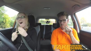 Fake Driving School Big Tits babe Fucks her instructor to pass her test Producer point