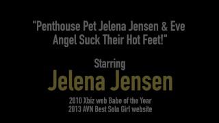 Penthouse Pet Jelena Jensen & Eve Angel Suck Their Hot Feet!