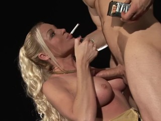 Painful dildo britney bubble butt blonde cindy behr gets fucked hard from huge cock while smo