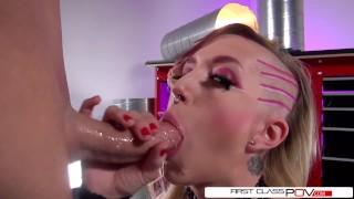 セックスポルノ - First Class POV - Dirty Talk ファーストクラスのハメ撮り-マイア・デイビスはハメ撮りスタイルで大きなディックを吸う