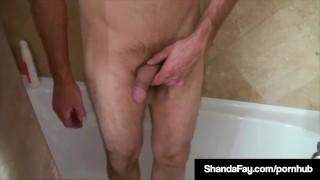 Loving Wife Shanda Fay Tongues Her Hubby's Anus Till He Cums Culiar blowjob