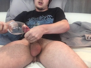 CEI from Its_Nightlight on Chaturbate! Glass filled with 3 Cumshots!