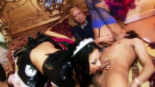BIG TIT MAID AUDREY BITONI AND BUSTY CASSIE YOUNG TAKE TURNS ON DICK