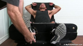 Preview 2 of Hairy stallion Jackson Grant gets restrained and tickled