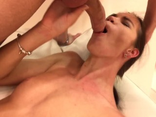 Lovenia Lux gets pussy fucked and deep throated by hard big cock!