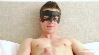 Straight young jerks his and on it cock spits maskurbate off masturbating