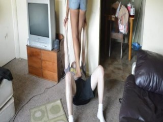 TSM - Coco practices her trampling skills on me