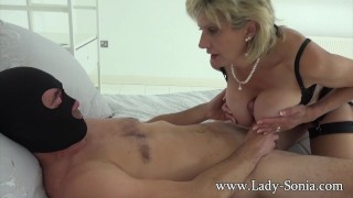 Preview 3 of British Sonia lets one of her big fans fuck her MILF pussy