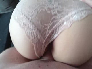 The girl gets the sperm on her big ass