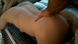 Little gIrl gets her pussy stretched and filled with cum