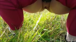 Pissing in a Field