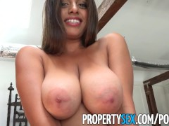 PropertySex  Potential client impressed by big natural natural tits Ella Knox | Porn-Update.com
