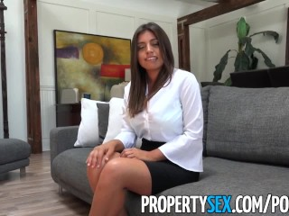 Preview 3 of PropertySex - Potential client impressed by big natural tits