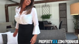 Preview 1 of PropertySex - Potential client impressed by big natural tits
