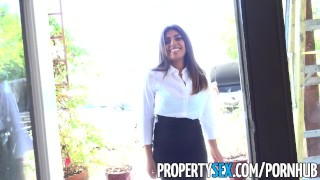 PropertySex - Potential client impressed by big natural tits Teen big
