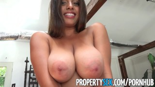 PropertySex - Potential client impressed by big natural tits Pov pussy