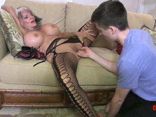 Woman cums twice slutload